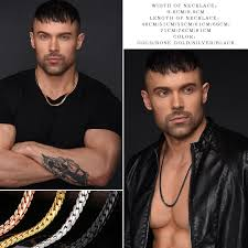 men necklace style images Miami chain style necklace choker long 9mm 6mm vintage punk jpg