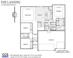 the lansing ranch floor plan ccs homes des moines iowa