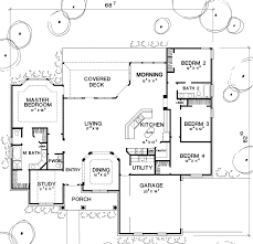 Contemporary Home With 4 Bdrms Contemporary House Plan With 4 Bedrooms And 2 5 Baths Plan 2924