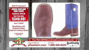 bootdaddy with anderson bean elephant cowboy boots youtube