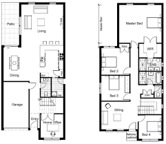 narrow house plans narrow floor plans lovely 2 house plans master bedroom