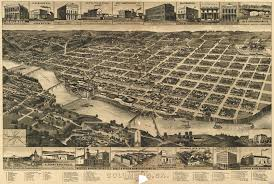 map of columbus wellge s map of columbus 1886