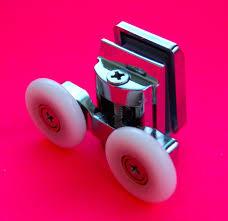4 x twin top zinc alloy shower door rollers runners 23mm wheel dia