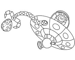 angry bird pigs king space ship coloring pages bulk color