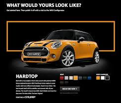 mini uses marketing apps to create a limited edition hardtop