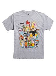 cartoon network characters collage t shirt topic