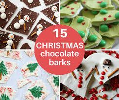 christmas chocolate a roundup of 15 christmas chocolate bark recipes handmade gift idea
