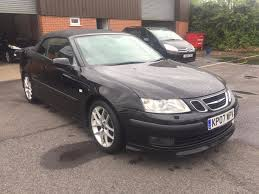 used saab 9 3 aero black cars for sale motors co uk