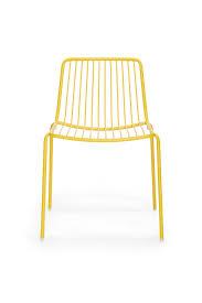 Yellow Chair Metal Garden Chair Nolita 3650 Pedrali Yellow Yellow