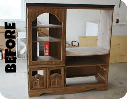 play kitchen from furniture upcycle change an entertainment system into a play kitchen