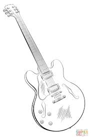 electric guitar coloring page free printable coloring pages