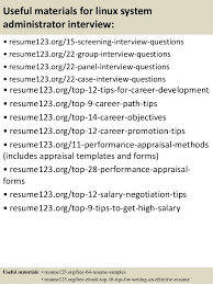 Sample Resume With Objective by Top 8 Linux System Administrator Resume Samples