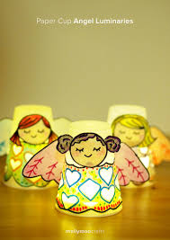 angel craft paper cup angel luminaries angel cups and craft