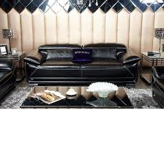 Modern Leather Sofa Black Dreamfurniture Com K8366 Modern Black Italian Leather Sofa Set