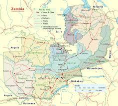 map of zambia zambia detailed map mapsof