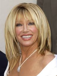 suzanne somers curved bangs a k a bowl cut bangs made popular