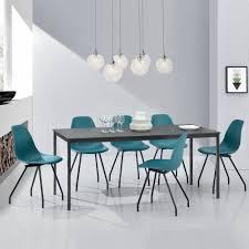 Esszimmer Set Ebay En Casa Esstisch Mit 6 Stühlen Grau Türkis 160x80cm Küchentisch