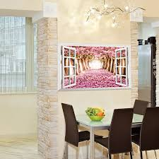 aliexpress com buy creative new romantic wedding room decor wall aliexpress com buy creative new romantic wedding room decor wall sticker spring pink cherry blossoms muursticker window tree 3d wall stickers wt050 from