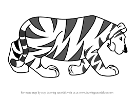 learn how to draw a tiger tattoos by drawing