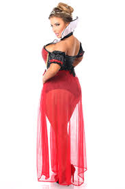 plus size 6 piece fairytale red queen steel boned corset costume