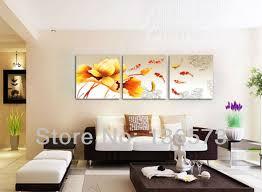living room wall paintings living room paintings enchanting decoration handmade koi fish canvas