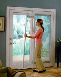 French Doors With Blinds In Glass Roman Shade On French Door With Stained Glass French Doors