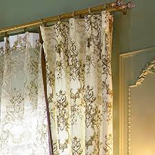 100 Curtains Iyuegou Antique Print Cotton Multi Floral Grommet Top Lining