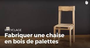 chaise en fabriquer une chaise en bois de palette recycler
