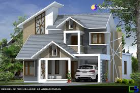 Home Design Pictures India Beautiful Modern Mixed Sloped Roof Home In 2380 Sqft