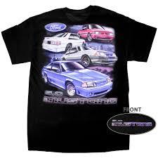 Black 5 0 Mustang Apparel T Shirt Short Sleeve