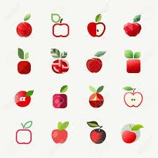 apple vector logo templates set elementos para o projeto