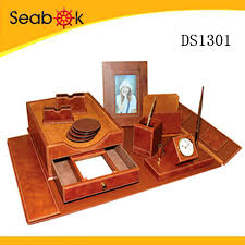 Office Desk Sets 2017 Faux Leather Office Desk Set Pu Desk Set Buy Pu Desk Set