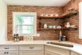 kitchen with brick backsplash looking brick backsplash amazing ideas with white