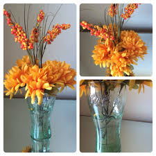 Flower Arrangements For Tall Vases Coca Cola Vase Orange Flower Arrangement Sealed With My