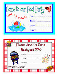 Backyard Birthday Party Invitations Bbq Birthday Party Invitations