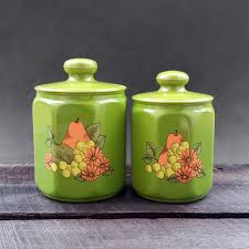 coffee kitchen canisters green kitchen canisters flour coffee tea vintage kromax