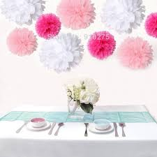 hot pink tissue paper 18pcs mixed 3 sizes white pink hot pink tissue paper pom poms