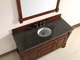 abstron 60 inch cherry finish single traditional bathroom vanity