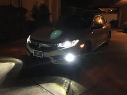 jeep headlights at night 2016 civic ex l led head fog lights upgrade night pictures