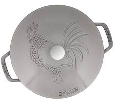 Rooster Utensil Holder Staub Essential 3 75 Qt Cast Iron Rooster Cocotte Dutch Oven