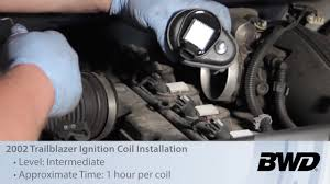 trailblazer ignition coil installation e255 bwd video o