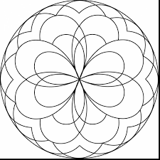 fabulous flower mandala coloring pages printable with free