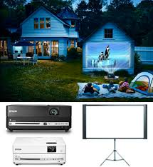 outdoor movie night without projector backyard