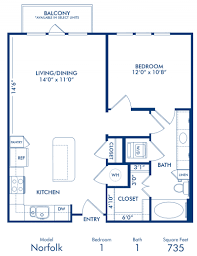 1 2 3 bedroom apartments in dallas tx camden belmont blueprint of norfolk floor plan 1 bedroom and 1 bathroom at camden belmont apartments in