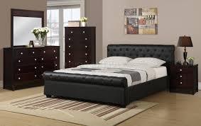 Upholstered Bedroom Sets F9246 Bedroom 4pc Set By Boss W Leatherette Upholstered Bed
