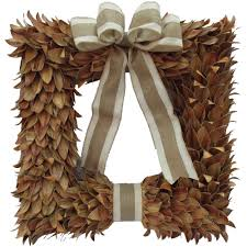home accents holiday 18 in artificial fall square wreath asm