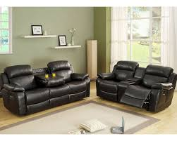 At Home Furniture Sofa Set Reclining Sofa Set Marille By Homelegance El 9724blk Set