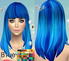 sims 4 blue hair darkiie sims 4 35 hair recolors sims 4 downloads sims 4 cc
