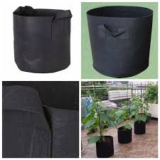 Nursery Plant Supplies by 1 2 3 5 7 10 Gallon Black Plant Flower Nursery Pot Fiber Pouches