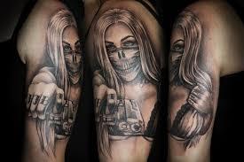 16 gangsta tattoos on half sleeve
